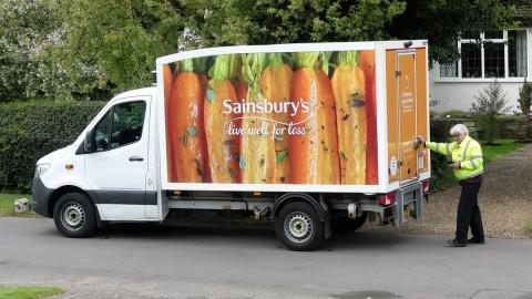 Sainsbury Delivery Van
