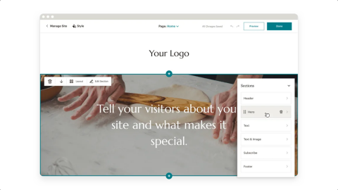Mailchimp website display
