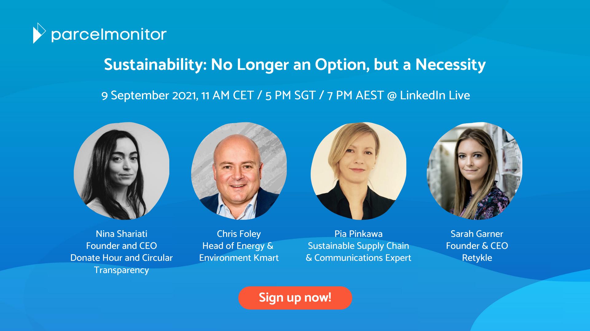 Sustainability Webinar - Parcel Monitor