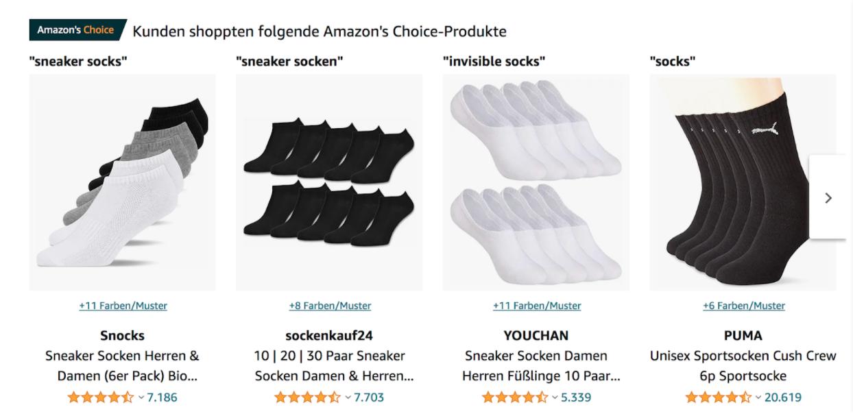 Snocks Amazon's Choice